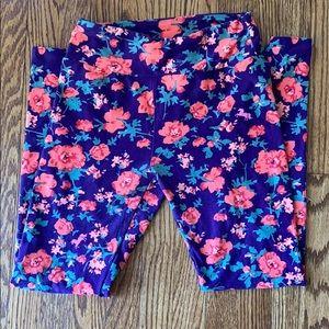 Lularoe one size floral leggings